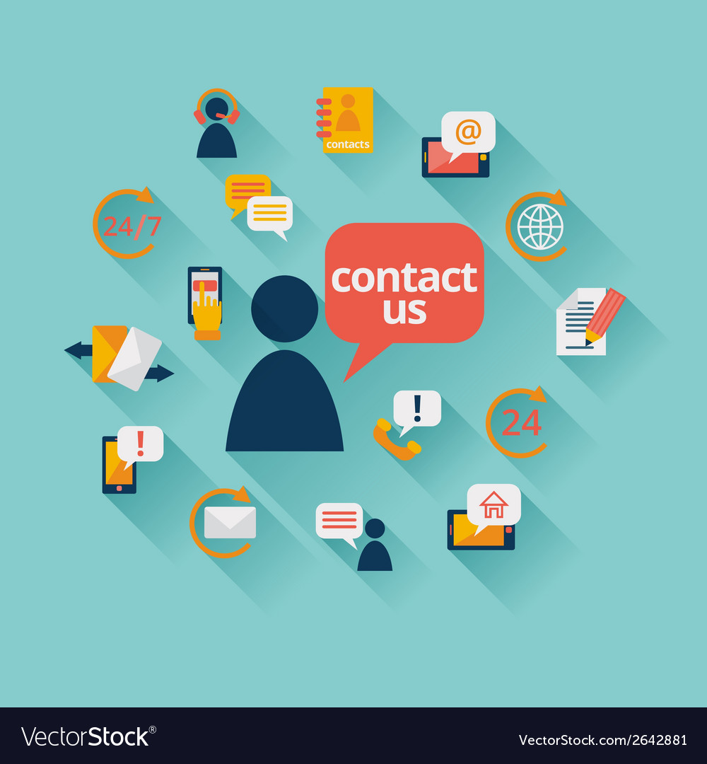 Contact us background vector | Price: 1 Credit (USD $1)