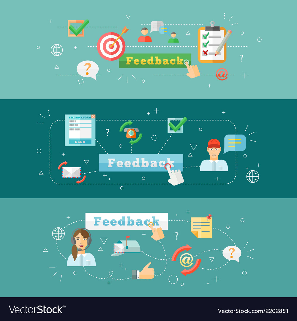 Feedback web infographic vector | Price: 1 Credit (USD $1)