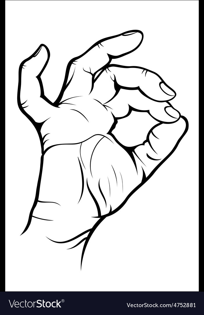 Hand gesture - okay vector | Price: 1 Credit (USD $1)