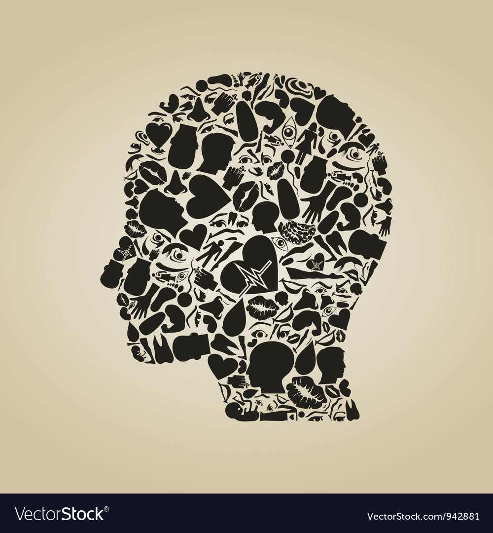 Head of a part of a body vector | Price: 1 Credit (USD $1)