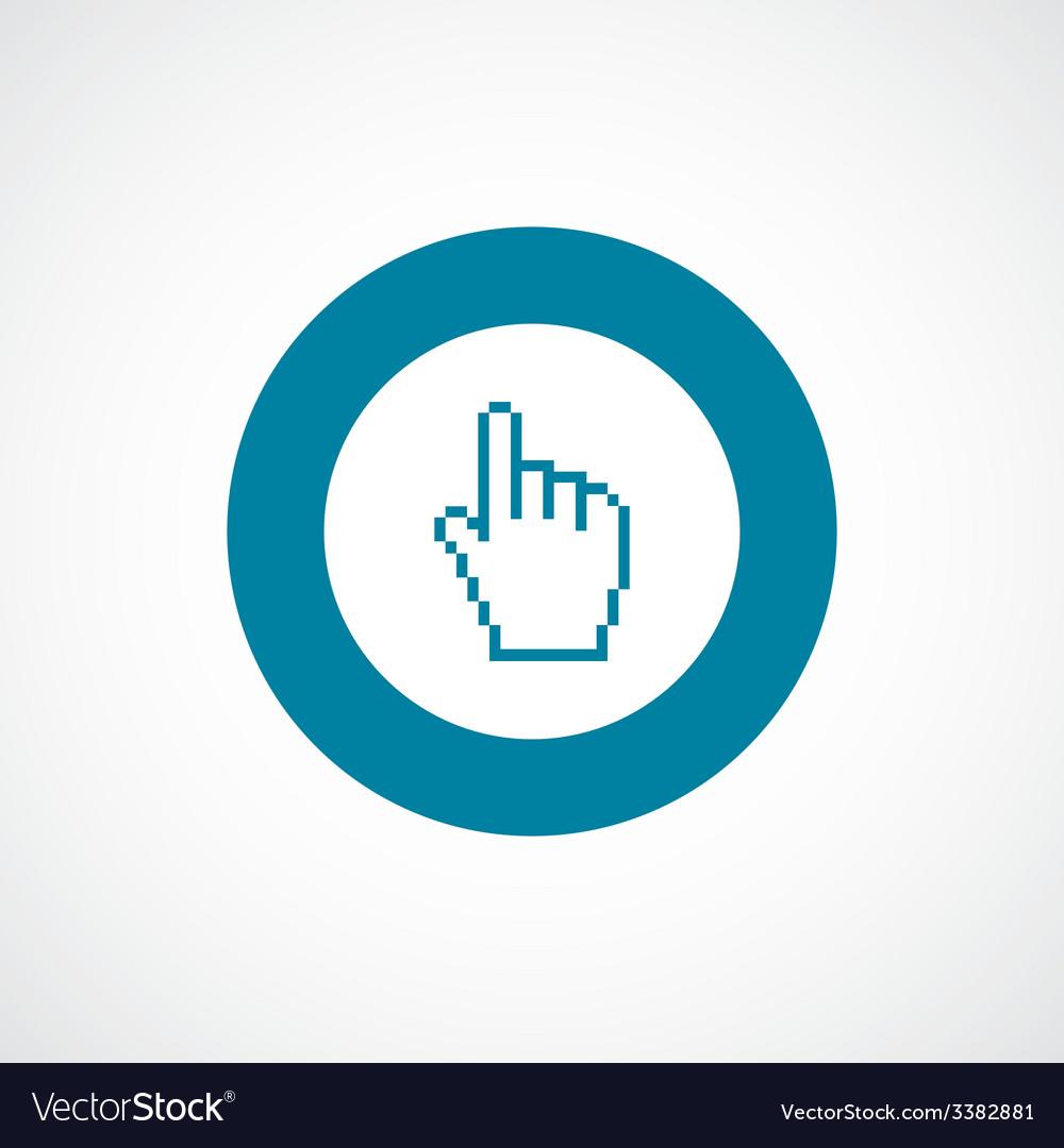 Pointer pixel cursor bold blue border circle icon vector   Price: 1 Credit (USD $1)