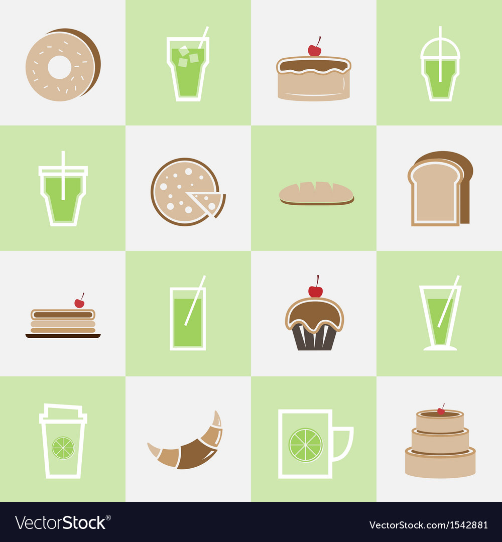 Set of bakery and lemonade elements for coffee vector | Price: 1 Credit (USD $1)