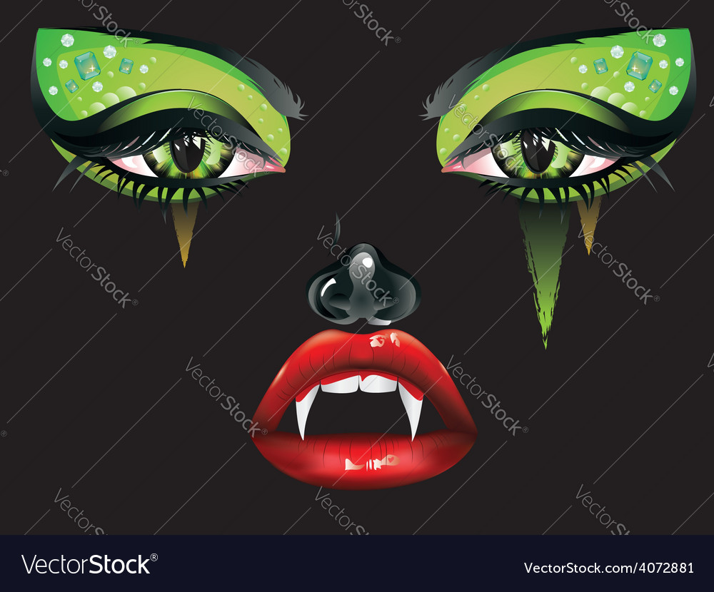 Vampire makeup2 vector | Price: 3 Credit (USD $3)