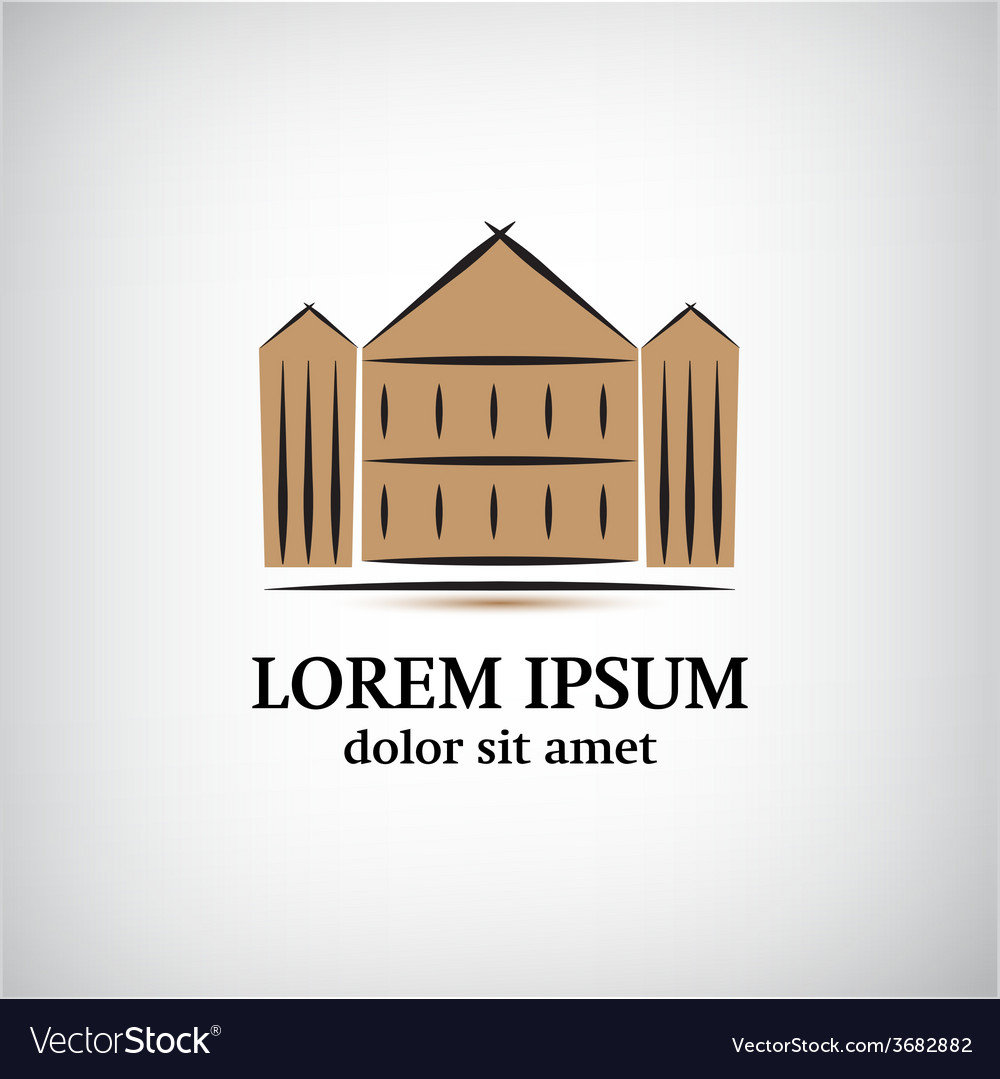 Building icon logo isolated vector   Price: 1 Credit (USD $1)