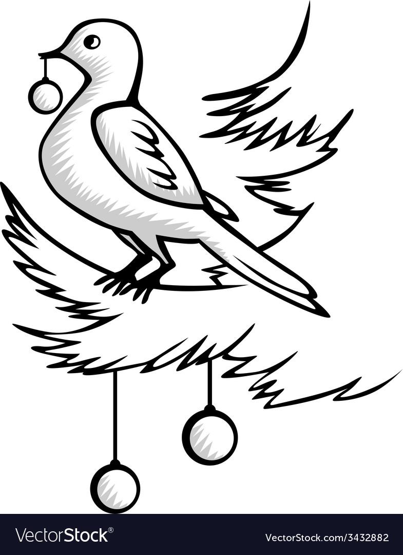 Christmas bird vector   Price: 1 Credit (USD $1)