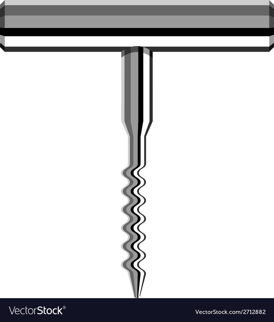 Chrome corkscrew vector | Price: 1 Credit (USD $1)