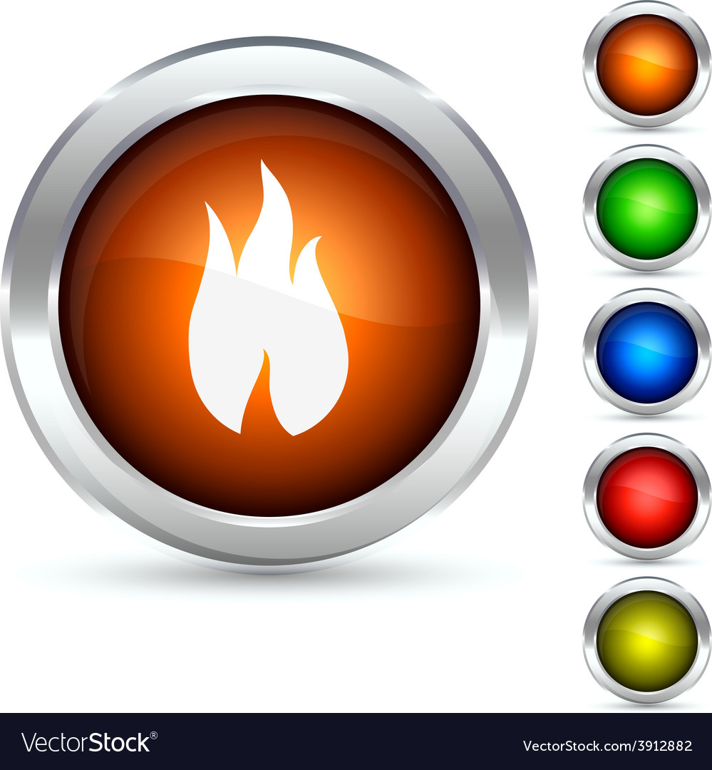 Fire button vector | Price: 1 Credit (USD $1)