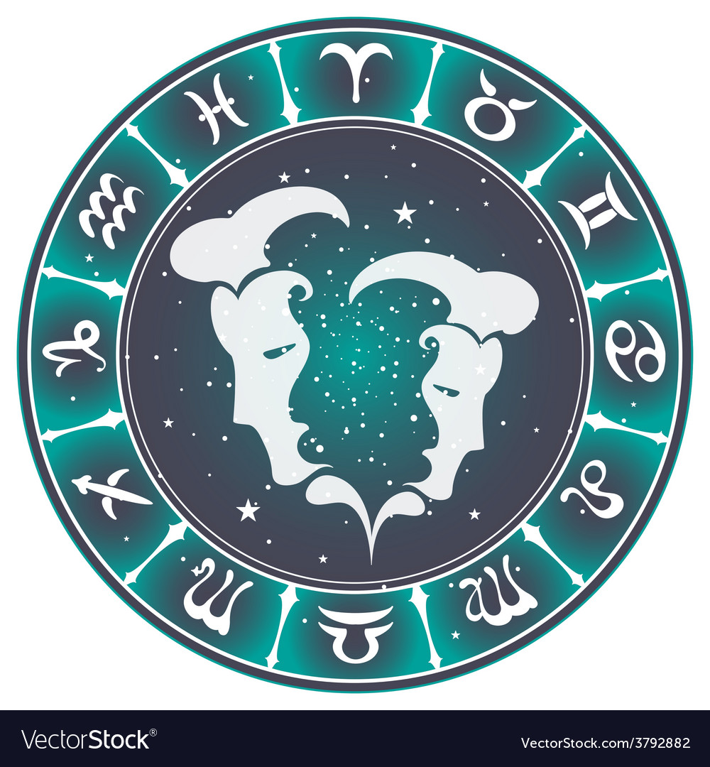 Gemini zodiac sign vector | Price: 1 Credit (USD $1)