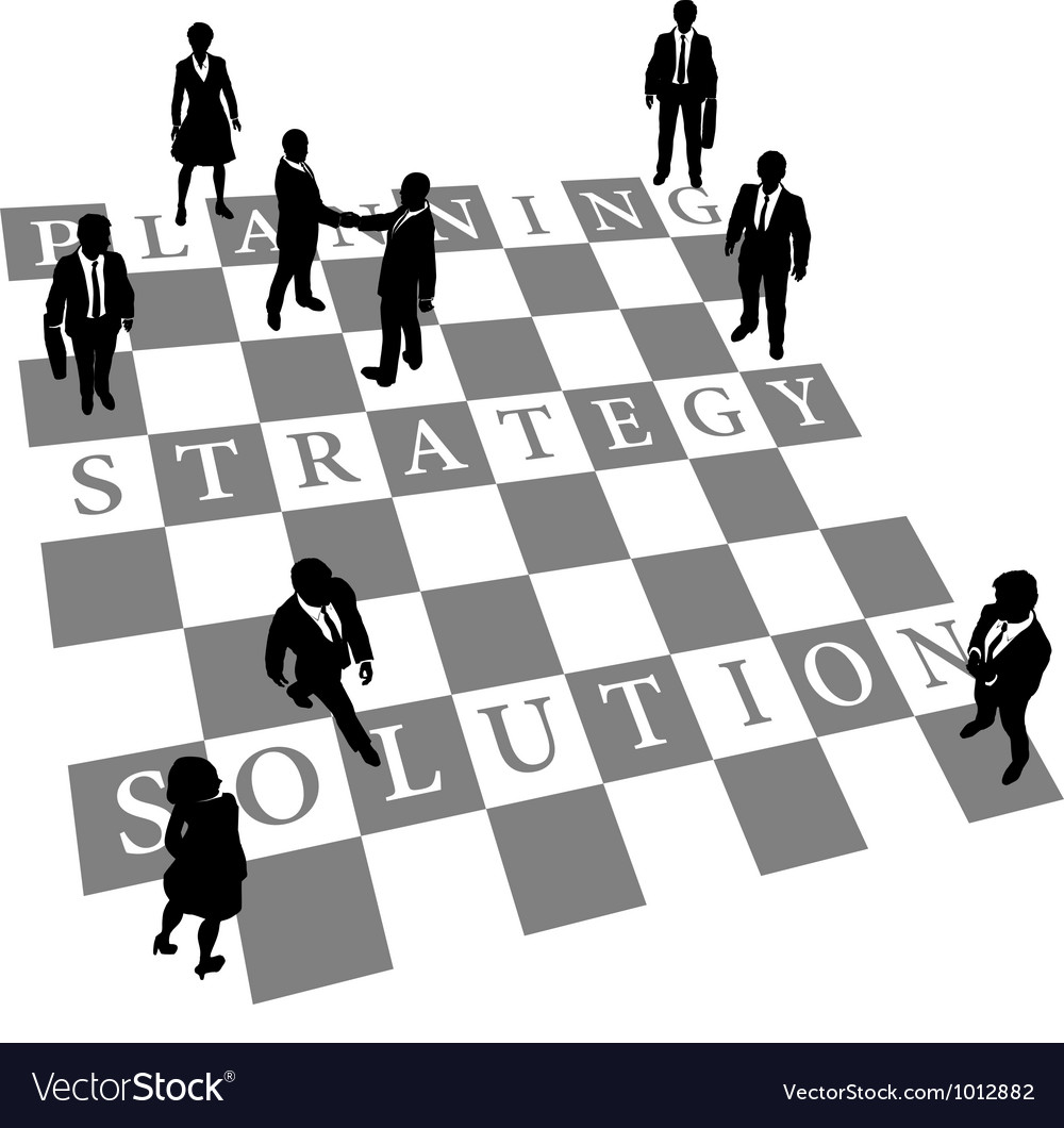 Planning strategy solution human chess people vector | Price: 1 Credit (USD $1)
