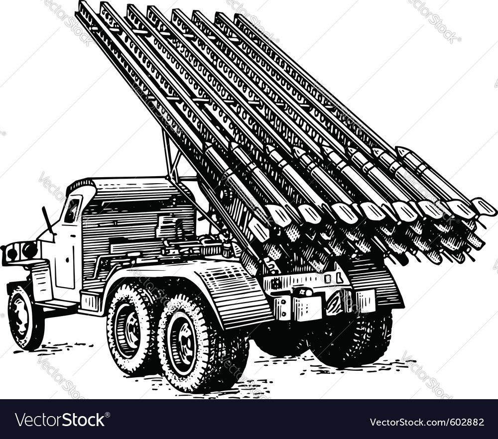 Reactive artillery bm 13 katyusha vector | Price: 1 Credit (USD $1)