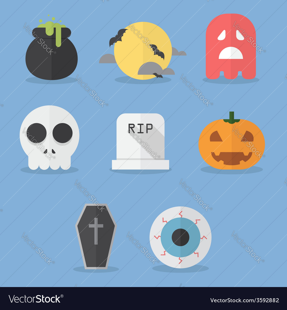 Set of halloween icons vector | Price: 1 Credit (USD $1)