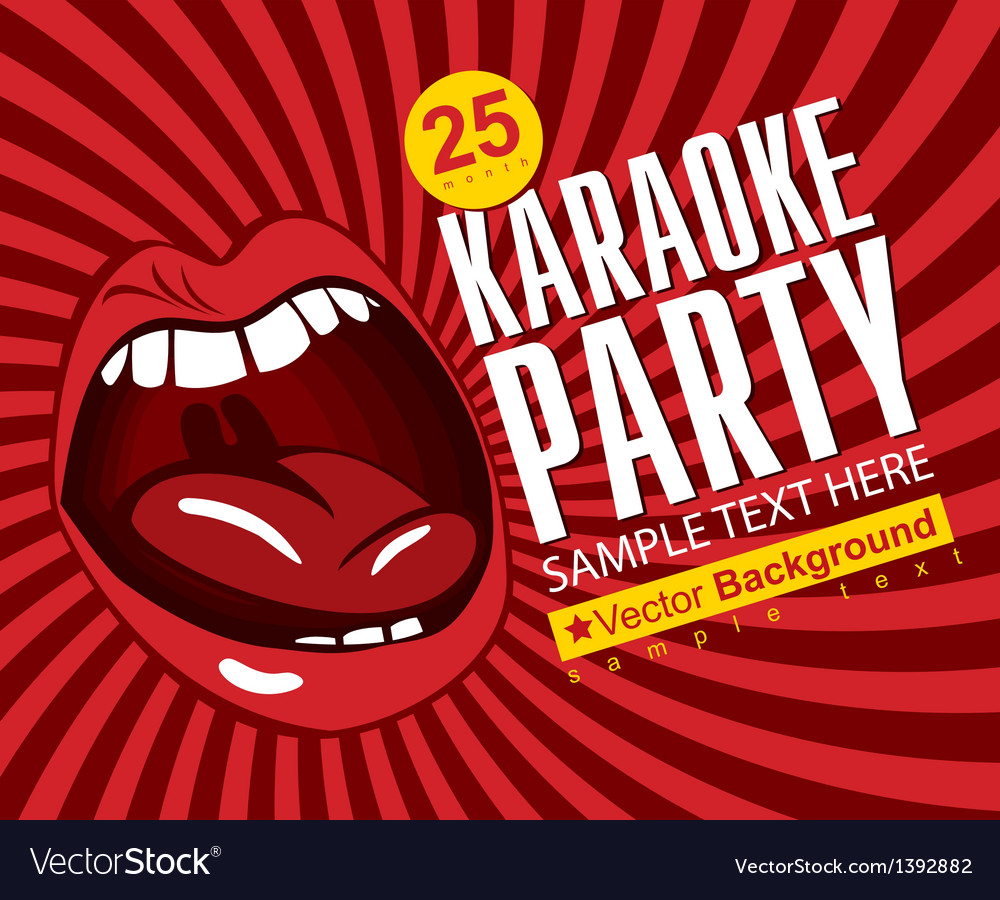 Singing karaoke vector | Price: 1 Credit (USD $1)