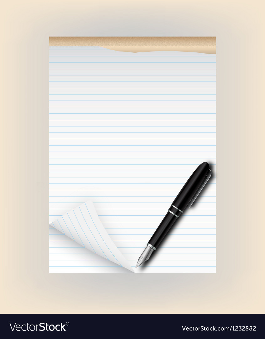 Tear pad with pen vector | Price: 3 Credit (USD $3)