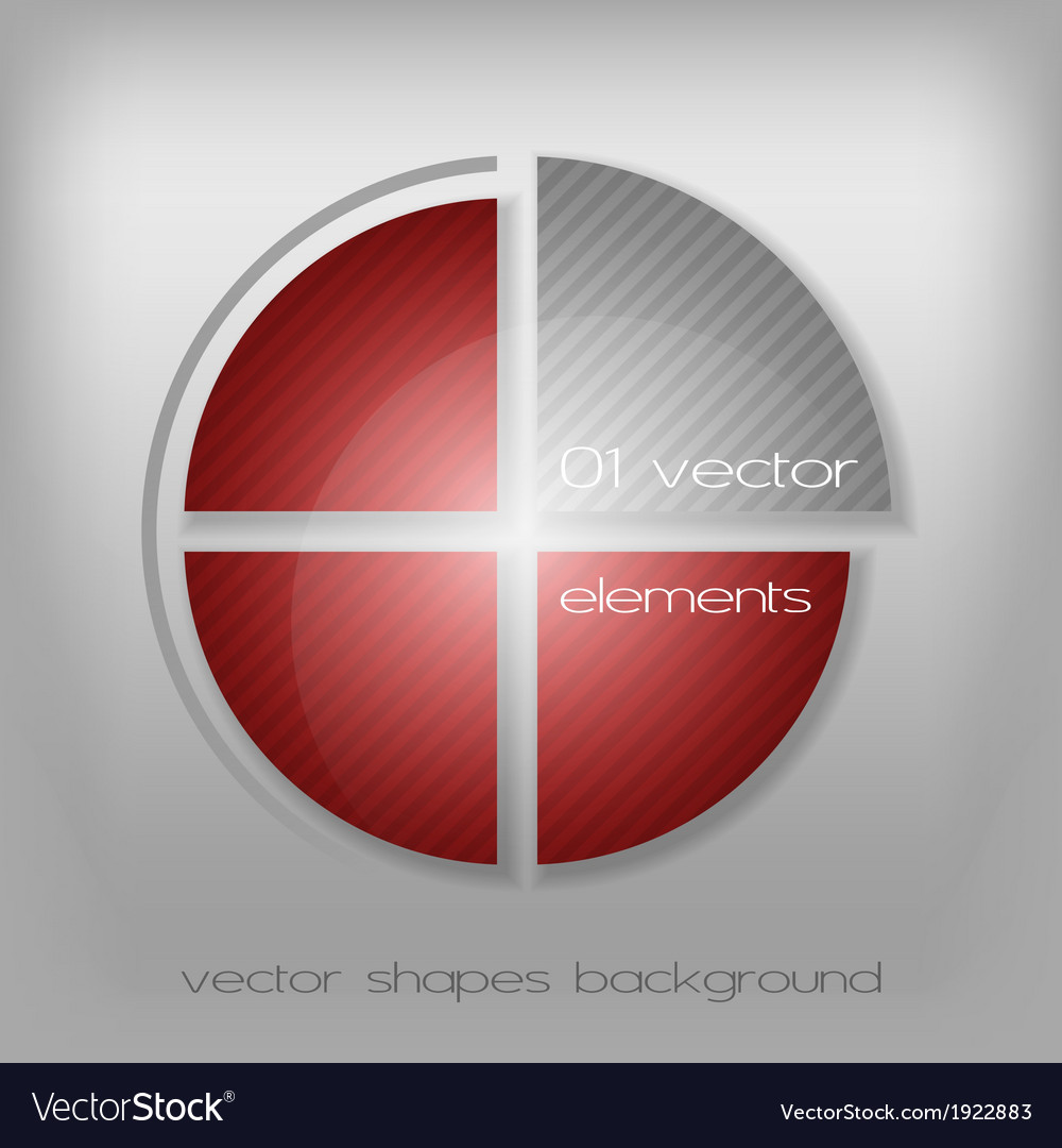 Business circle red gray vector | Price: 1 Credit (USD $1)