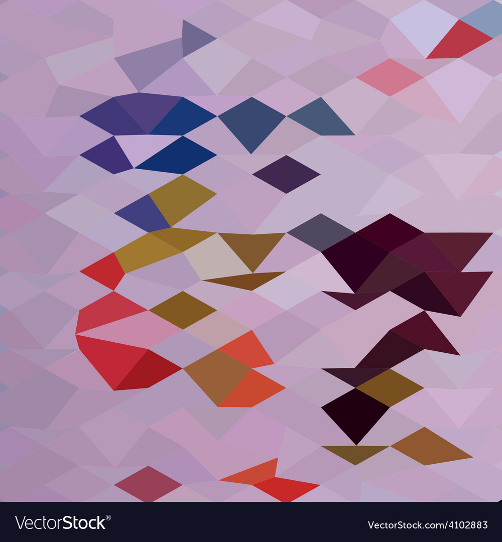 Clown abstract low polygon background vector | Price: 1 Credit (USD $1)