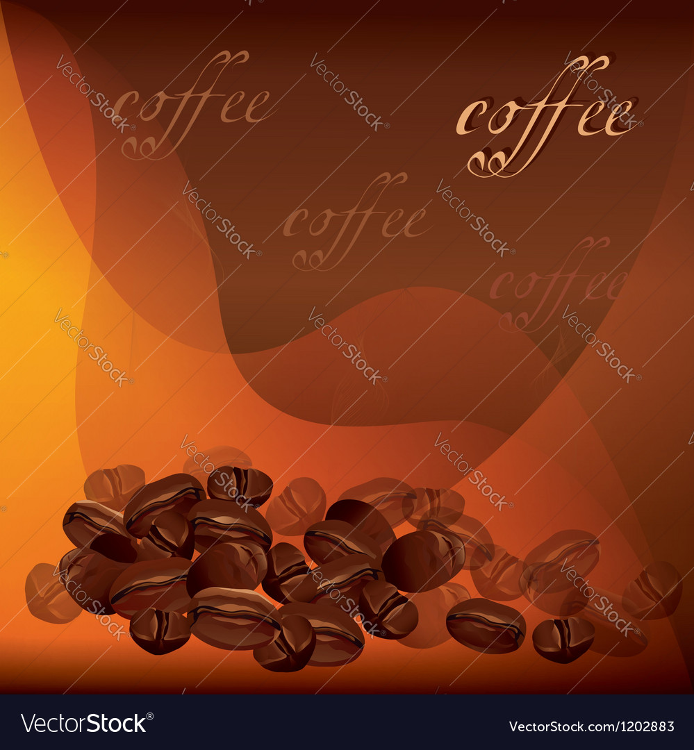 Coffee background with beans vector | Price: 1 Credit (USD $1)