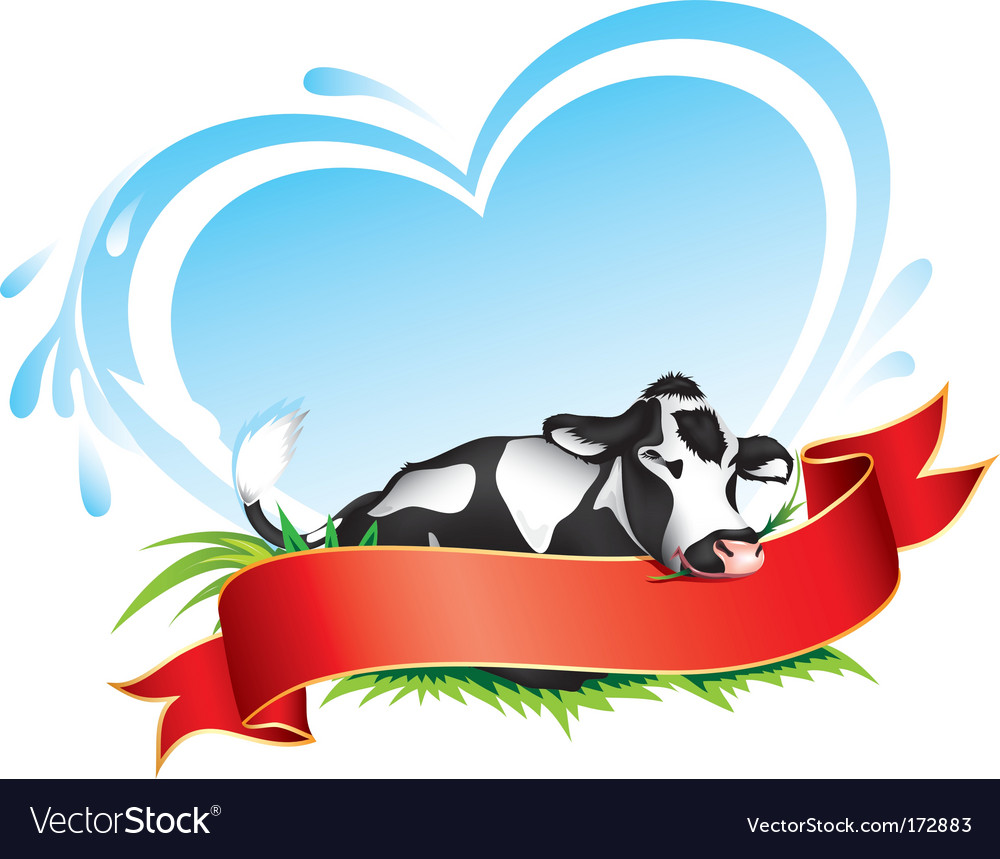 Cow label vector | Price: 1 Credit (USD $1)