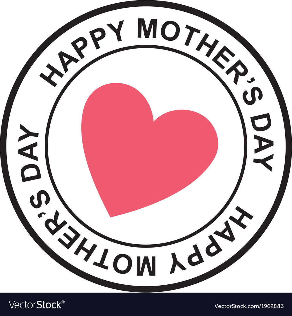Mothers day postage stamp vector   Price: 1 Credit (USD $1)