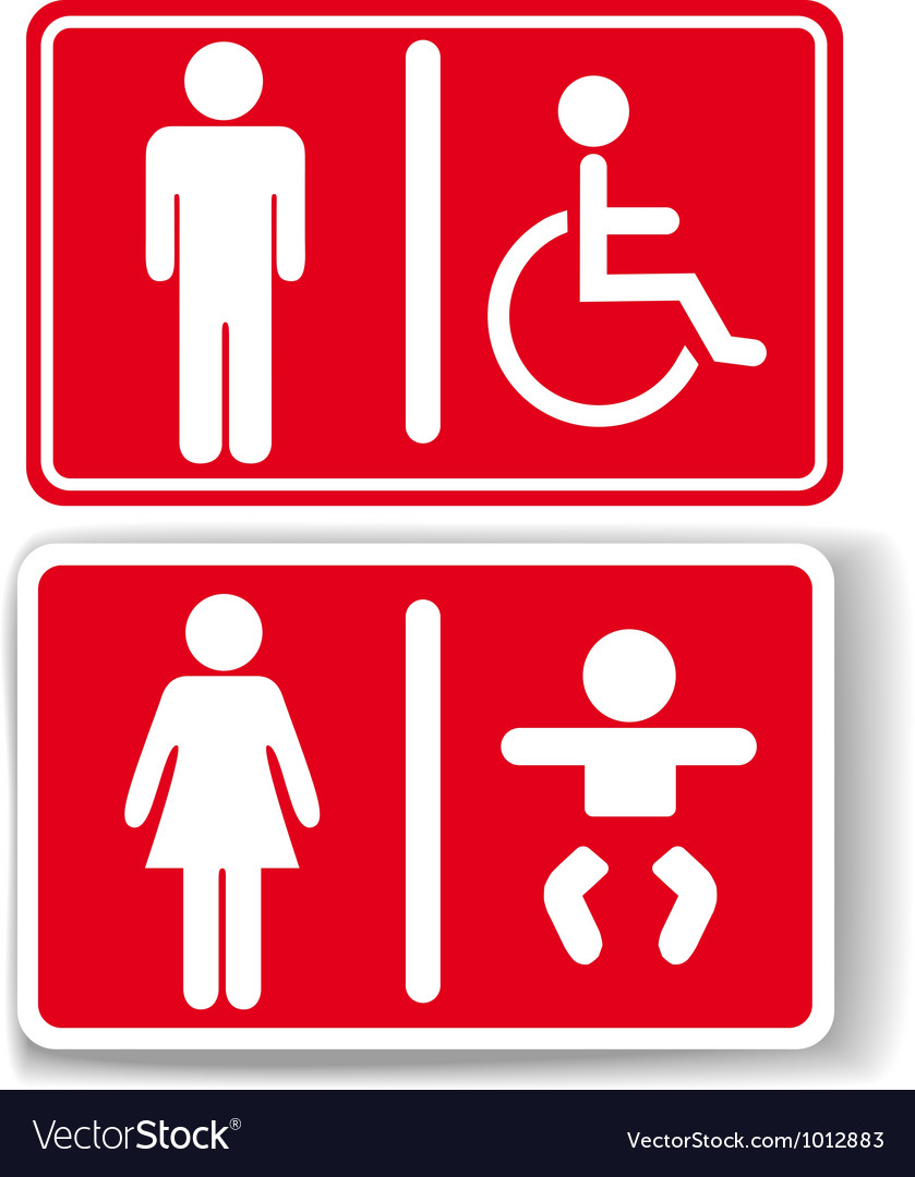 Restroom men women baby handicapped vector | Price: 1 Credit (USD $1)