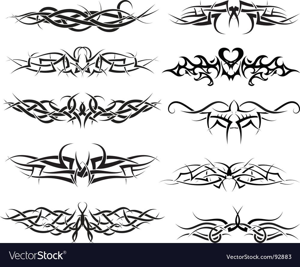 Tattoos set vector   Price: 1 Credit (USD $1)