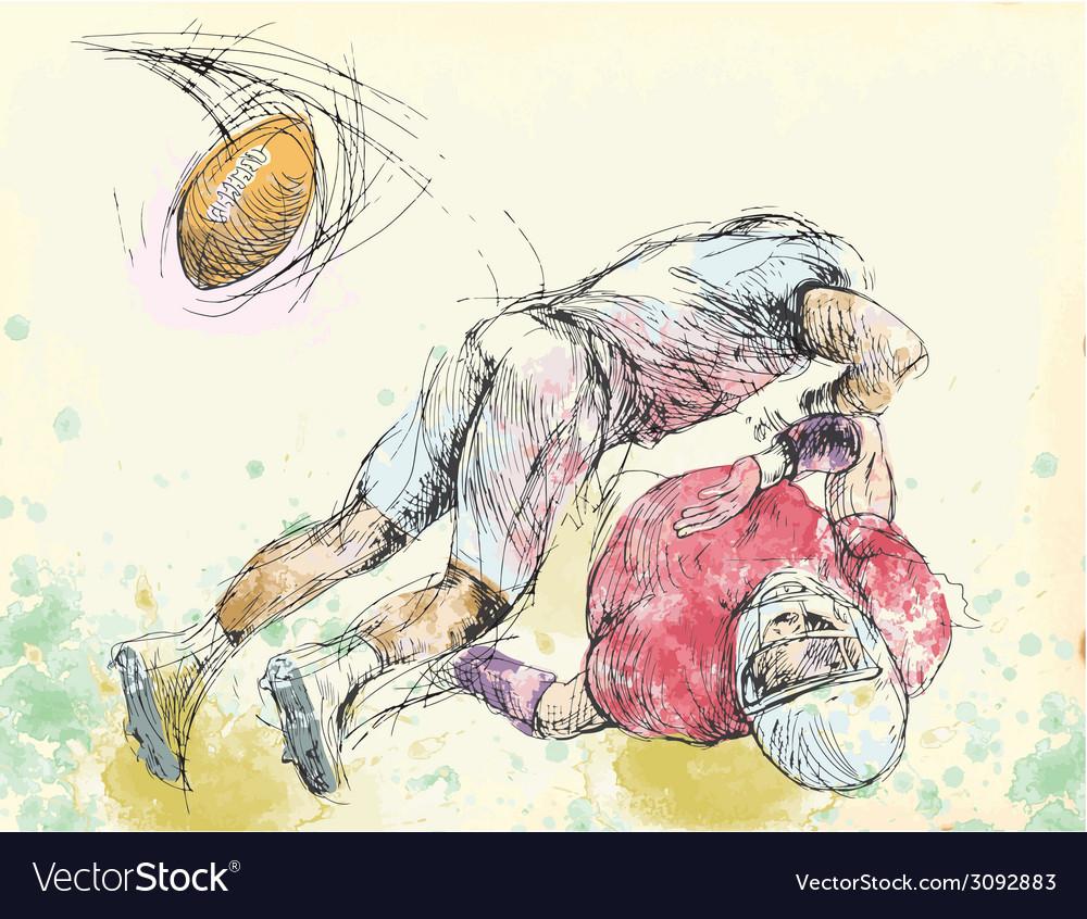 Topic american football vector | Price: 1 Credit (USD $1)