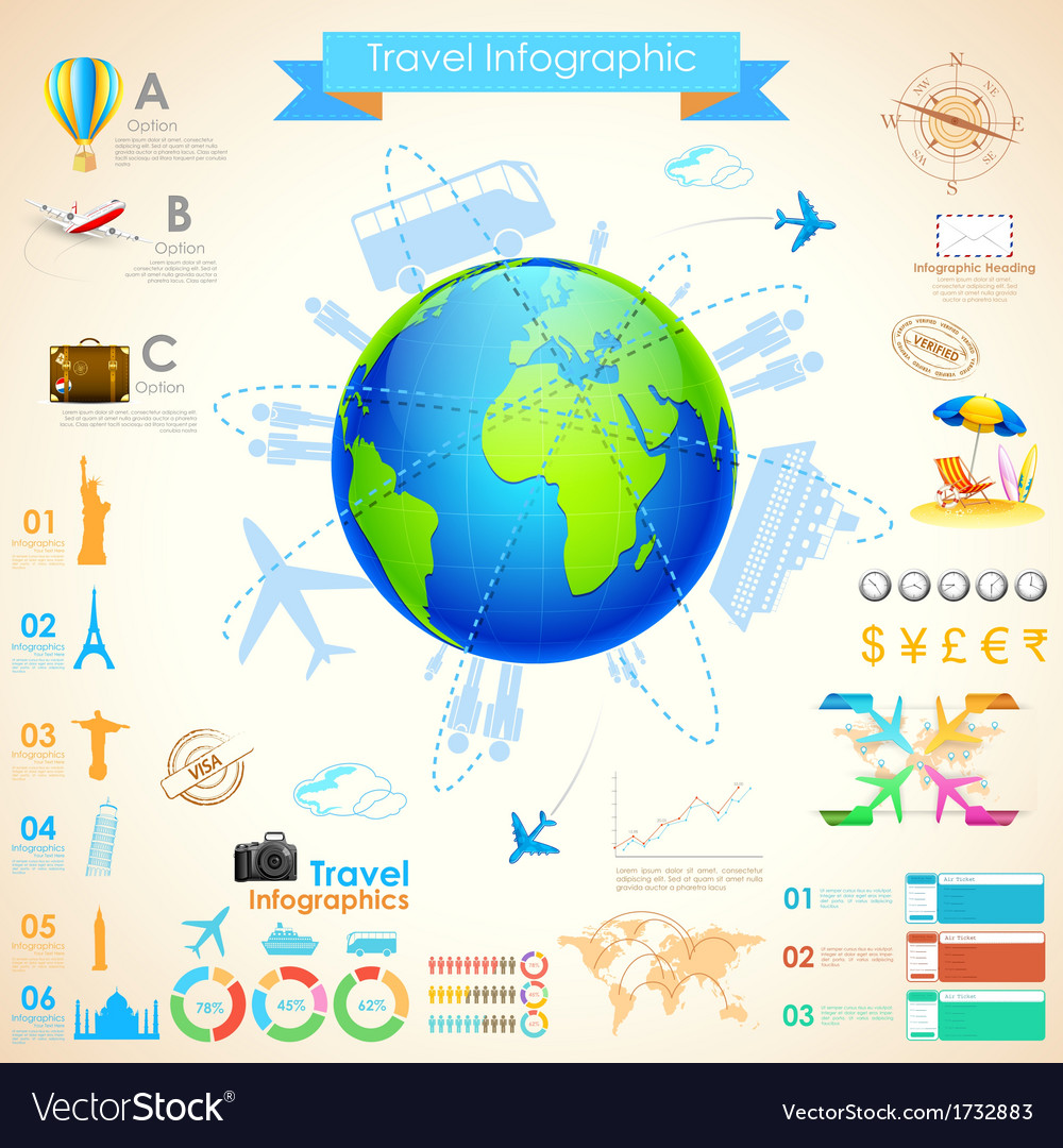 Travel infographic chart vector   Price: 1 Credit (USD $1)