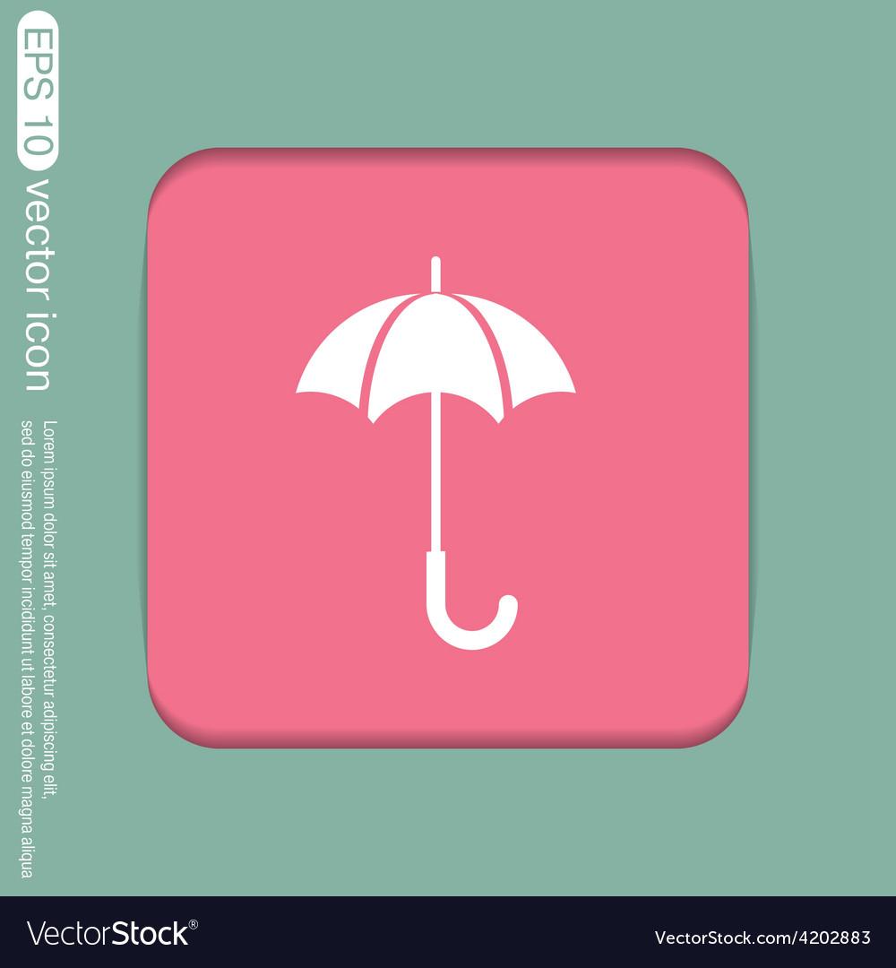 Umbrella icon protection from rain and moisture vector   Price: 1 Credit (USD $1)