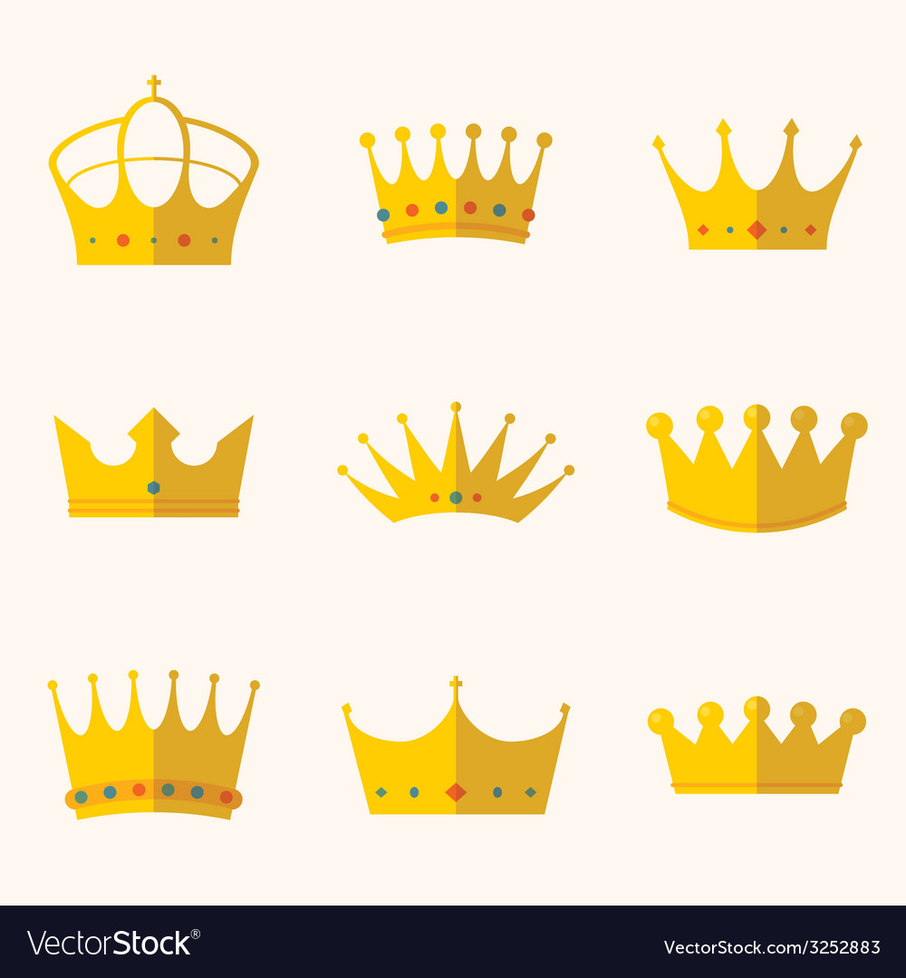Vintage antique crowns vector | Price: 1 Credit (USD $1)