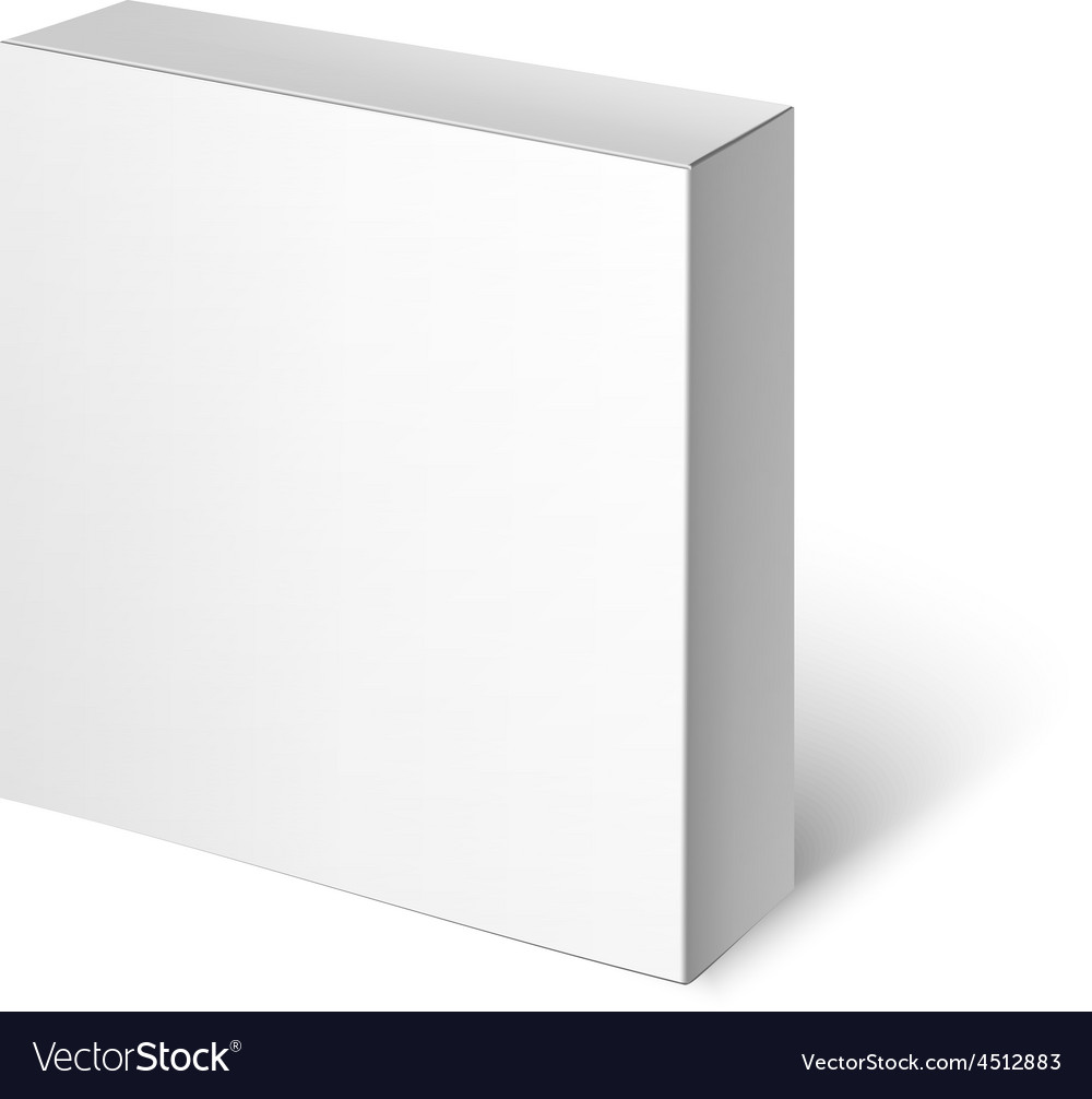 White package box mockup template vector | Price: 1 Credit (USD $1)
