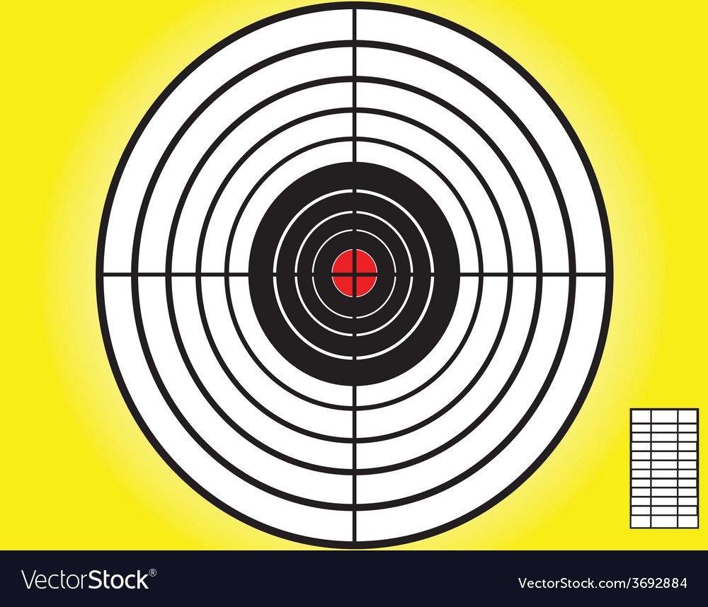 Blank target sport for shooting competition vector | Price: 1 Credit (USD $1)