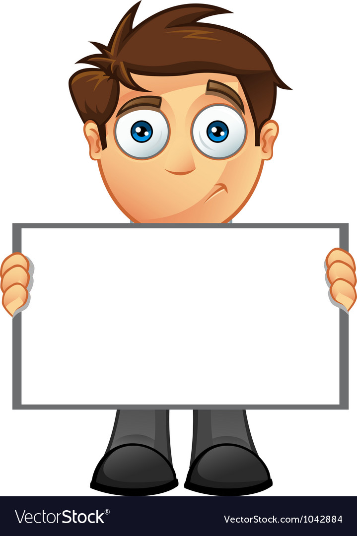 Business man blank sign 8 vector | Price: 1 Credit (USD $1)