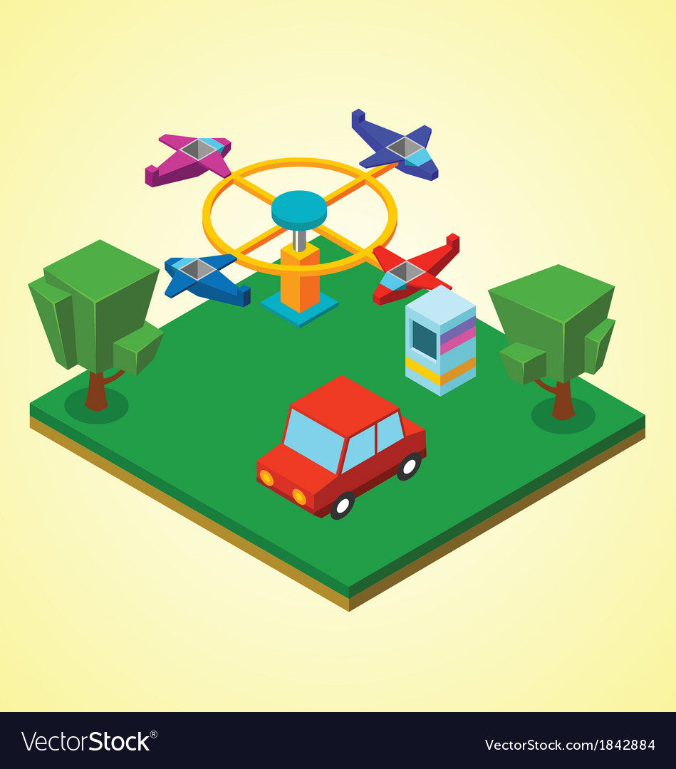 Carnival airplanes vector | Price: 1 Credit (USD $1)