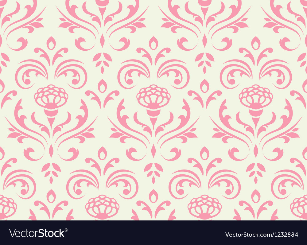 Classic floral seamless ornate background vector | Price: 1 Credit (USD $1)