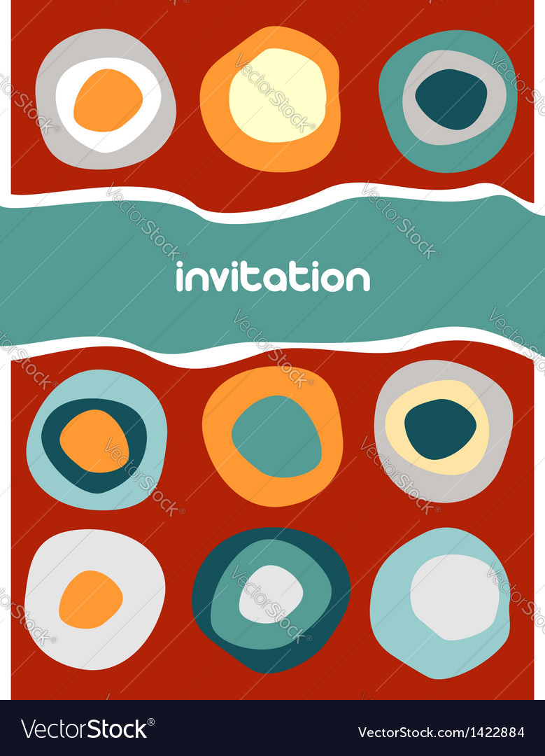Colorful circles pattern on red vector | Price: 1 Credit (USD $1)