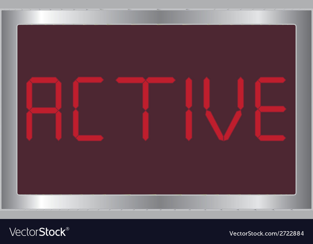Digital active vector | Price: 1 Credit (USD $1)