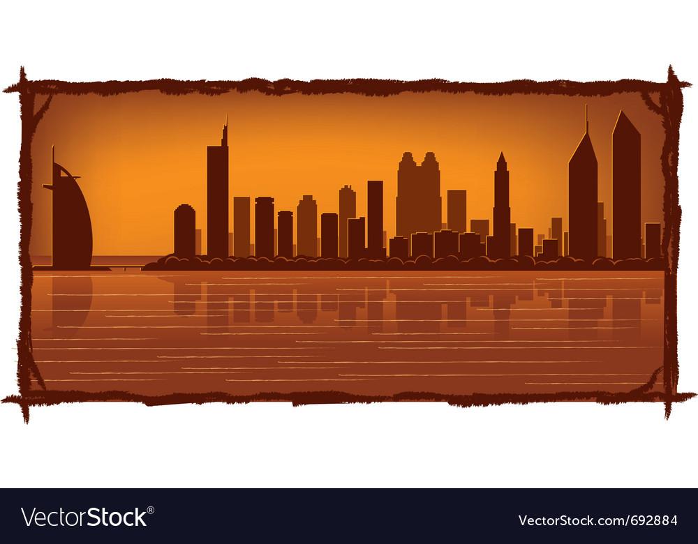 Dubai skyline vector | Price: 1 Credit (USD $1)