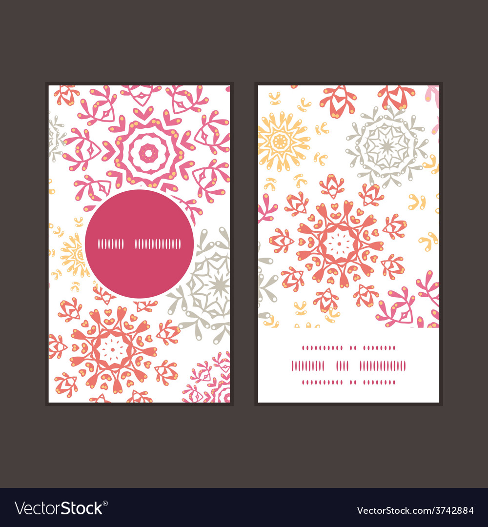 Folk floral circles abstract vertical round vector | Price: 1 Credit (USD $1)
