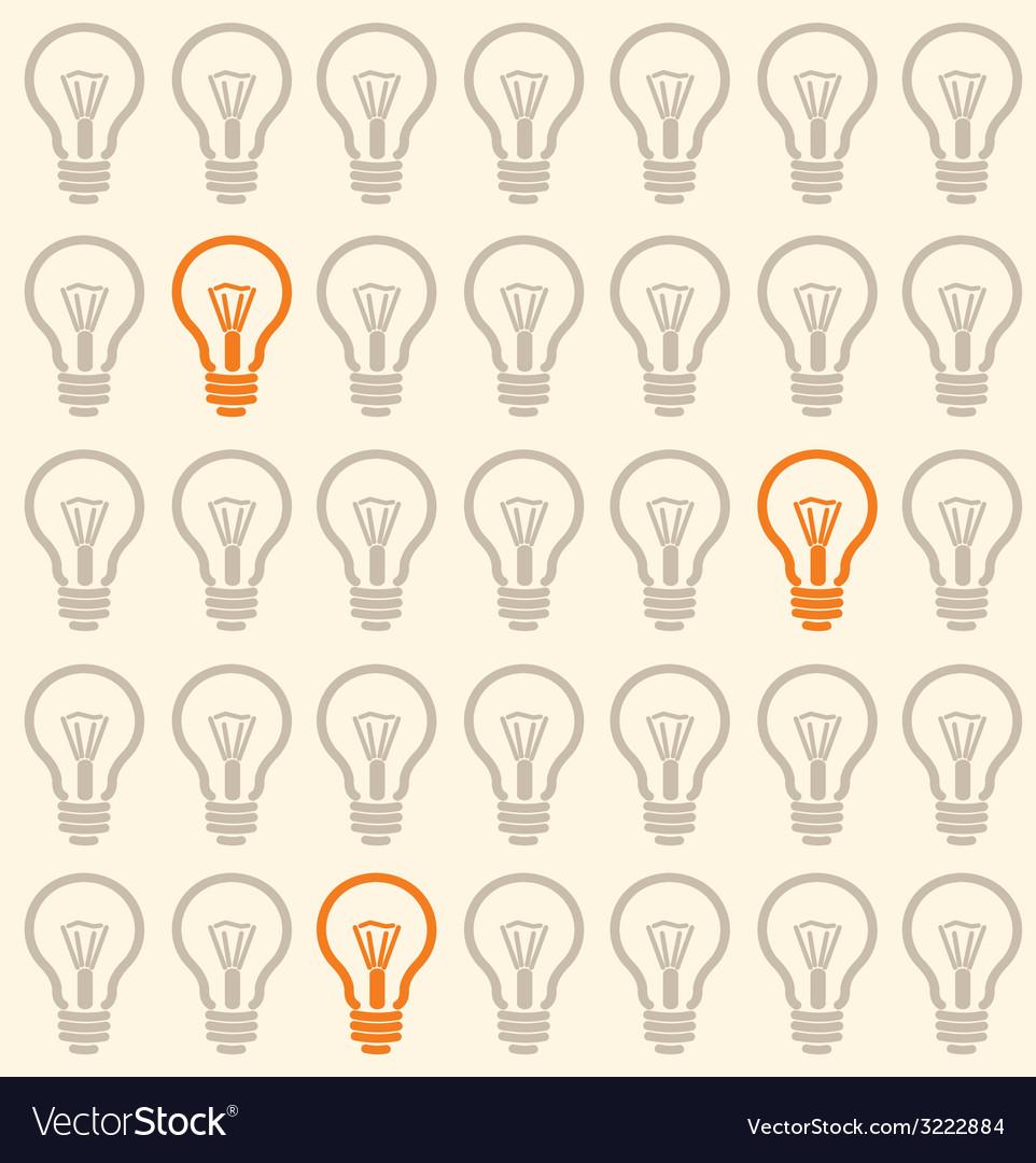 Light bulb seamless pattern vector | Price: 1 Credit (USD $1)