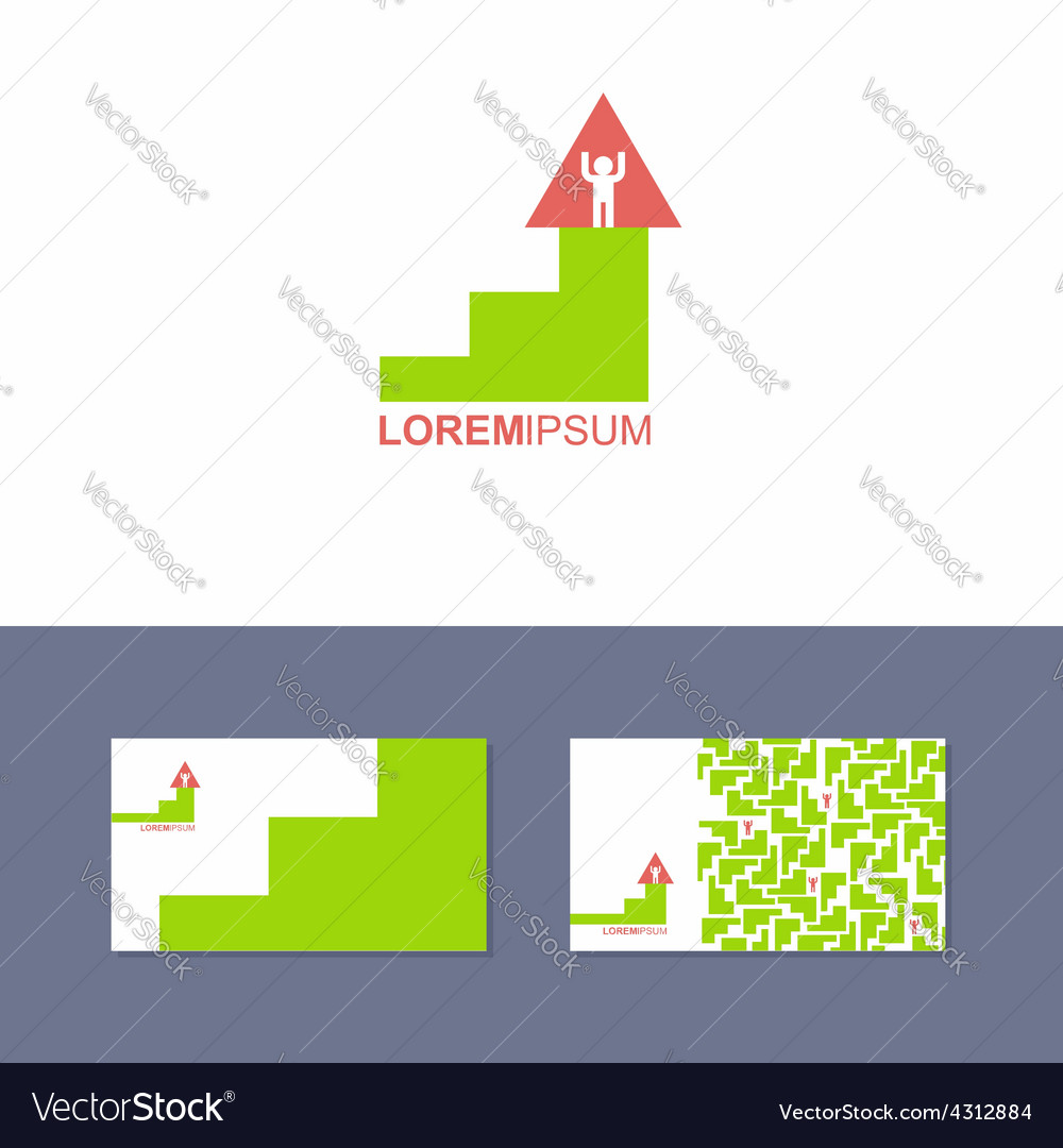 Logo design element with business card template vector | Price: 1 Credit (USD $1)