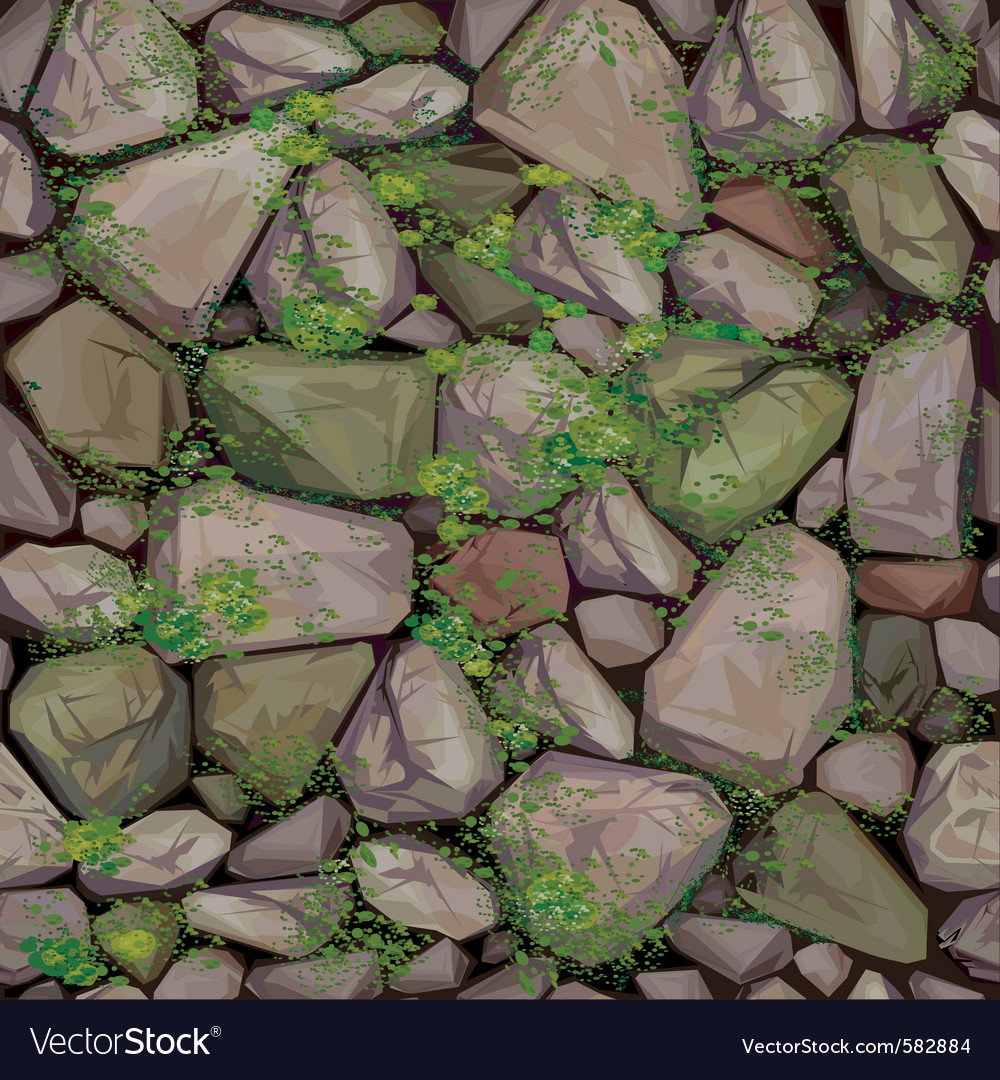 Mossy stone seamless texture vector | Price: 3 Credit (USD $3)