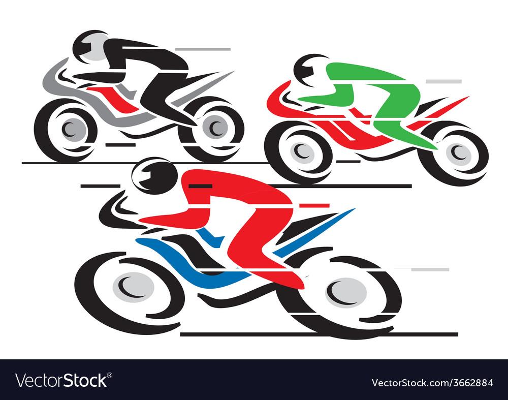 Motorcycle race vector | Price: 1 Credit (USD $1)