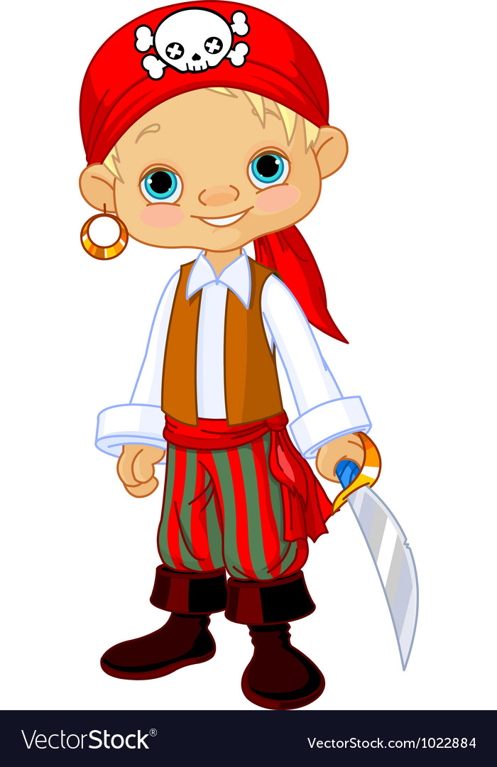 Pirate kid vector | Price: 3 Credit (USD $3)