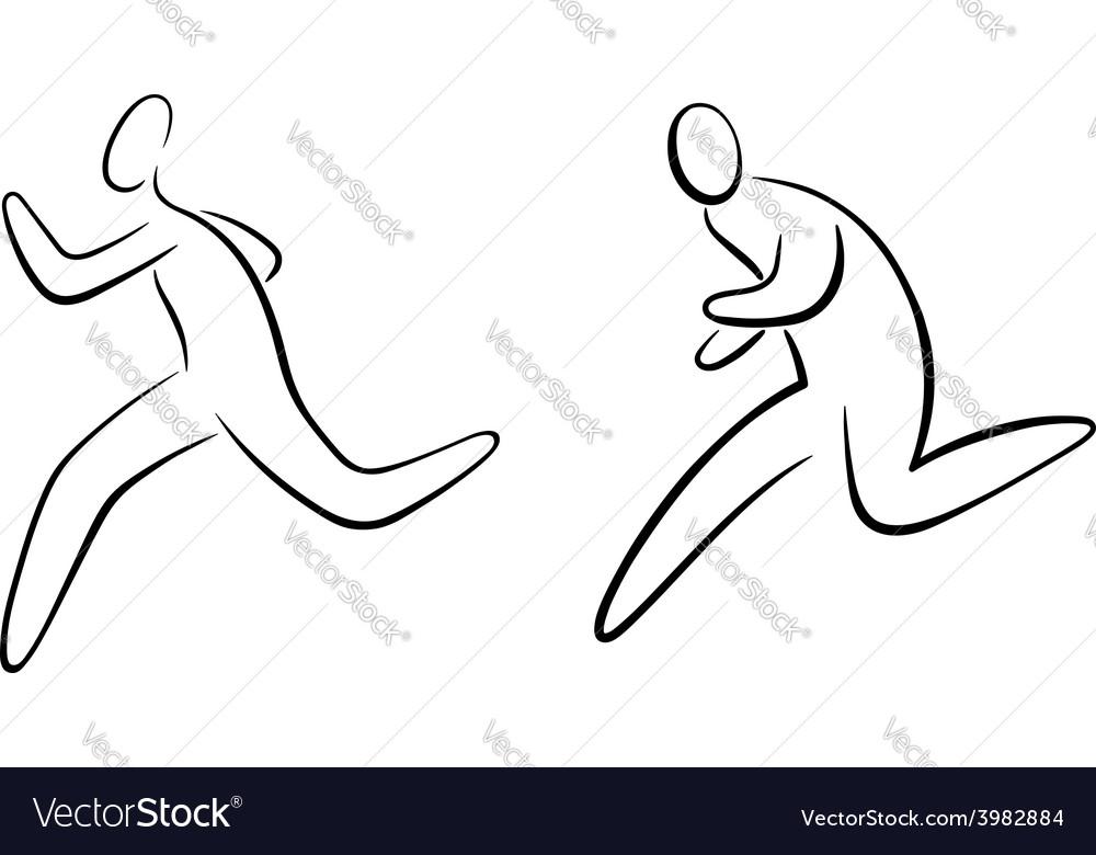 Running gestures vector | Price: 1 Credit (USD $1)