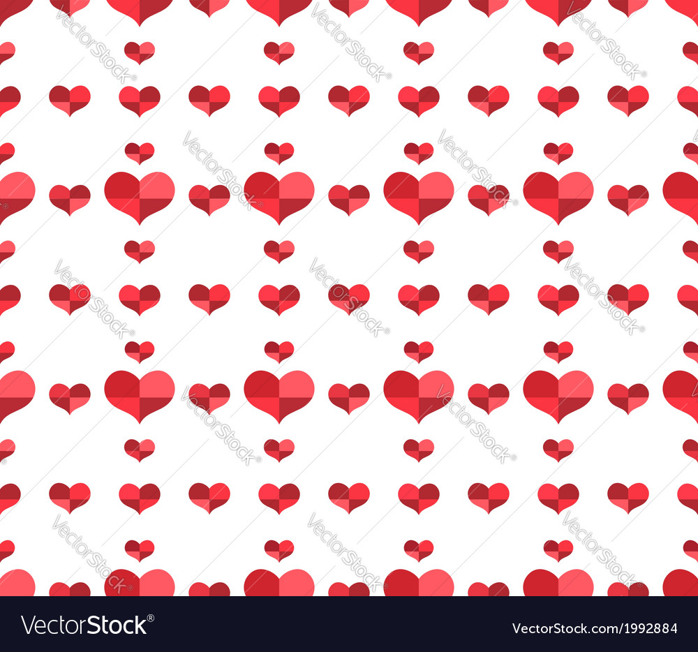 Seamless pattern with repeating hearts vector | Price: 1 Credit (USD $1)