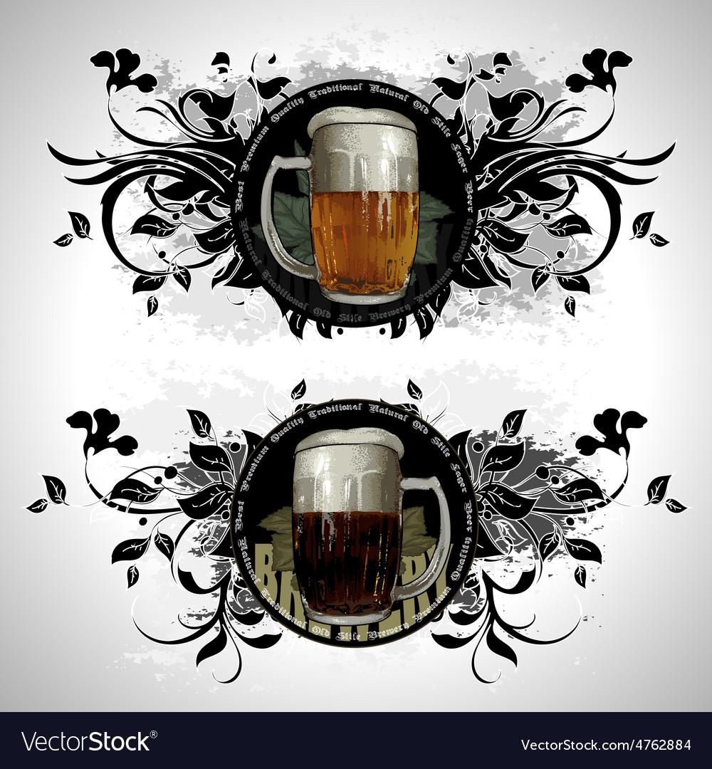 Set of beer elements vector | Price: 3 Credit (USD $3)
