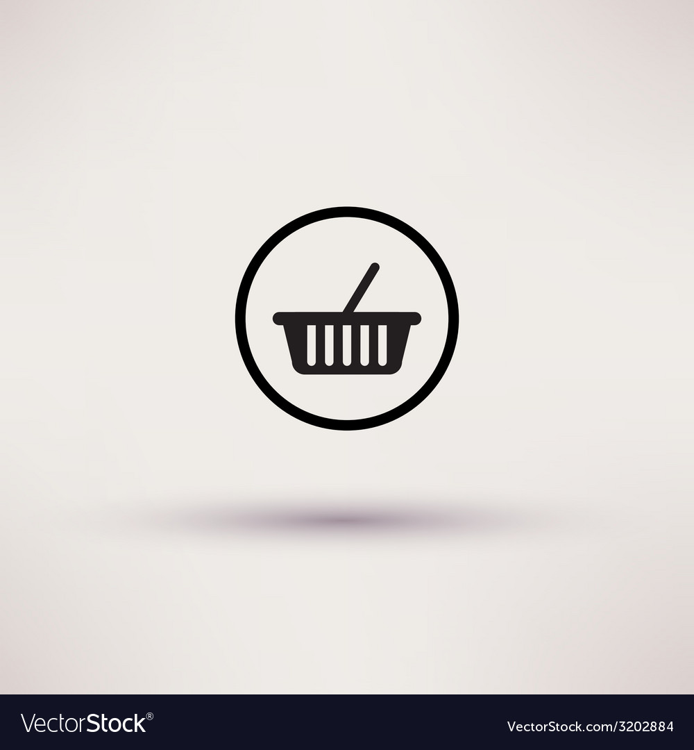 Shopping basket icon template for design vector | Price: 1 Credit (USD $1)