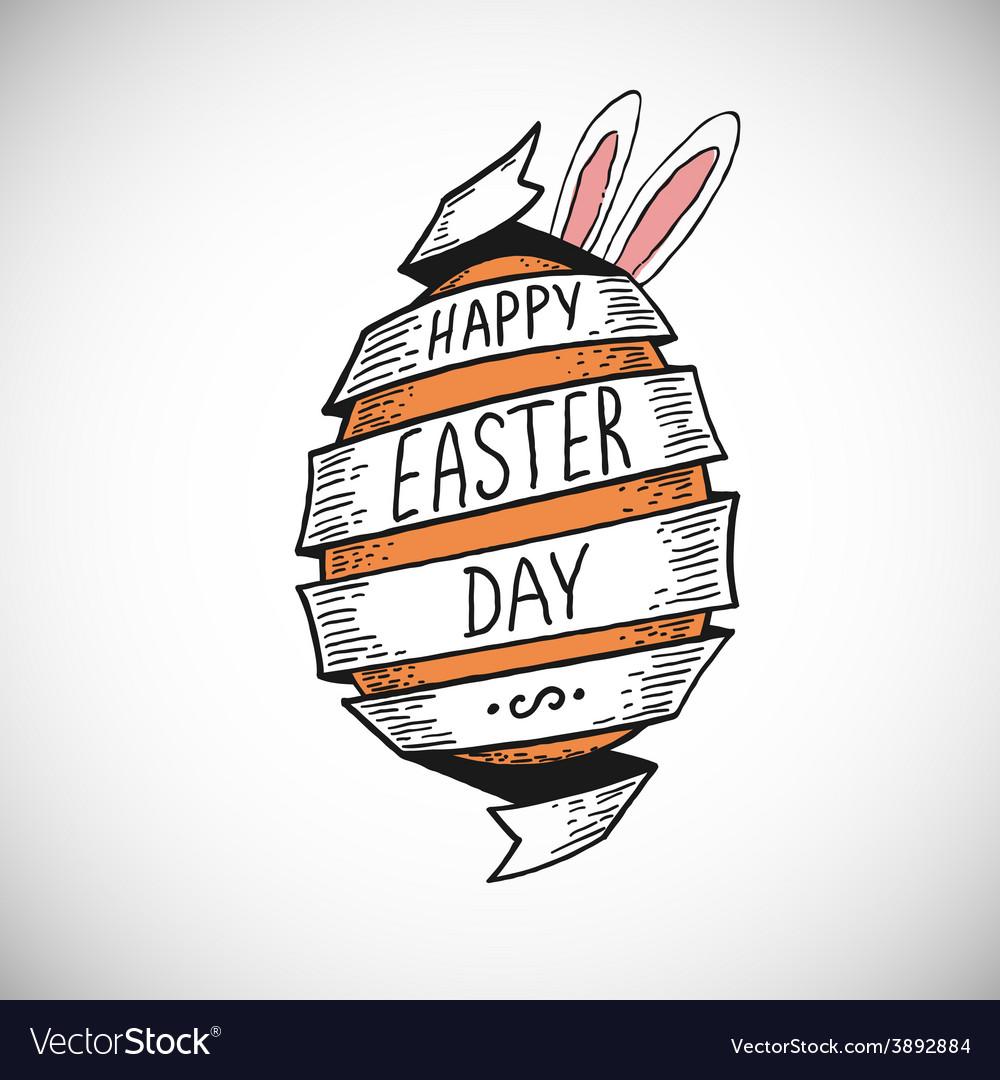 Spiral ribbon easter egg vector | Price: 1 Credit (USD $1)