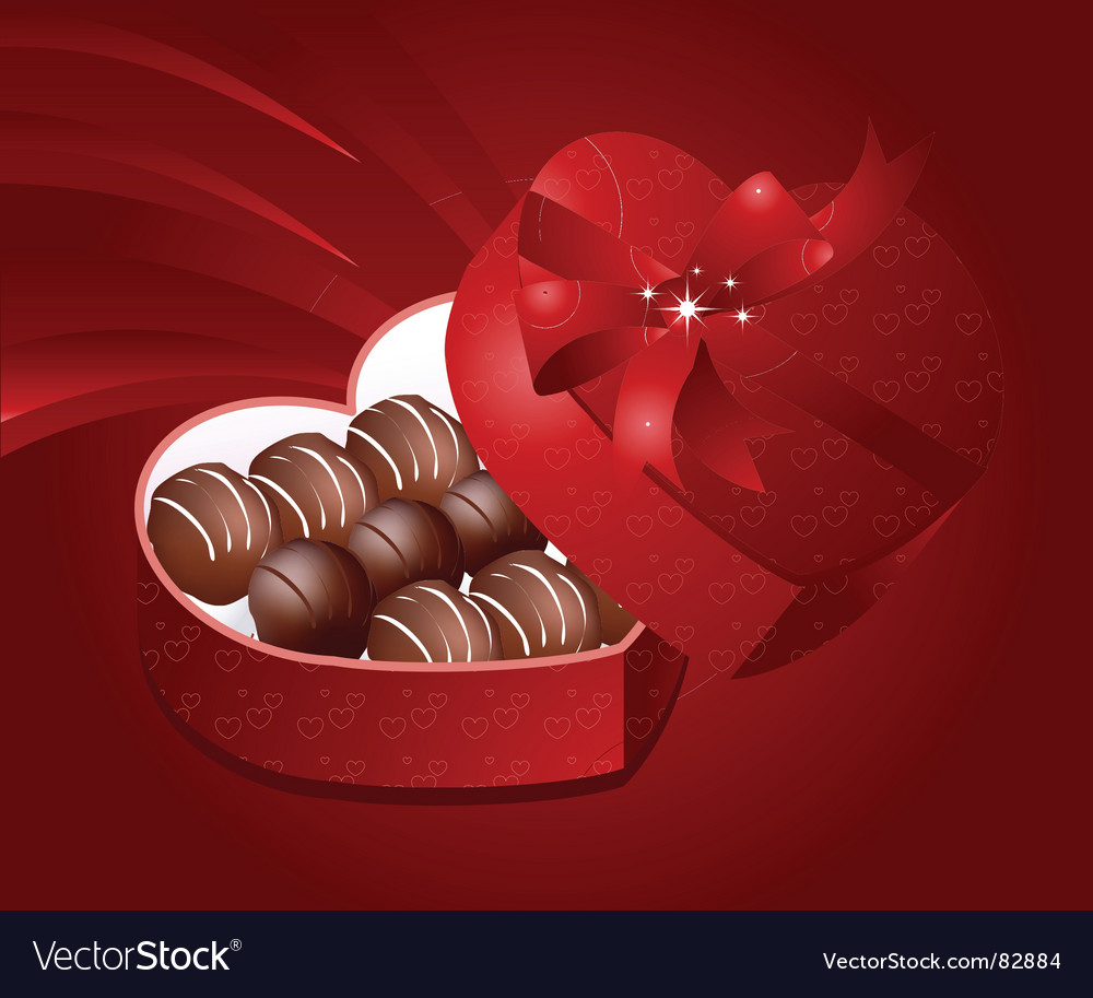 Valentine chocolates vector | Price: 1 Credit (USD $1)