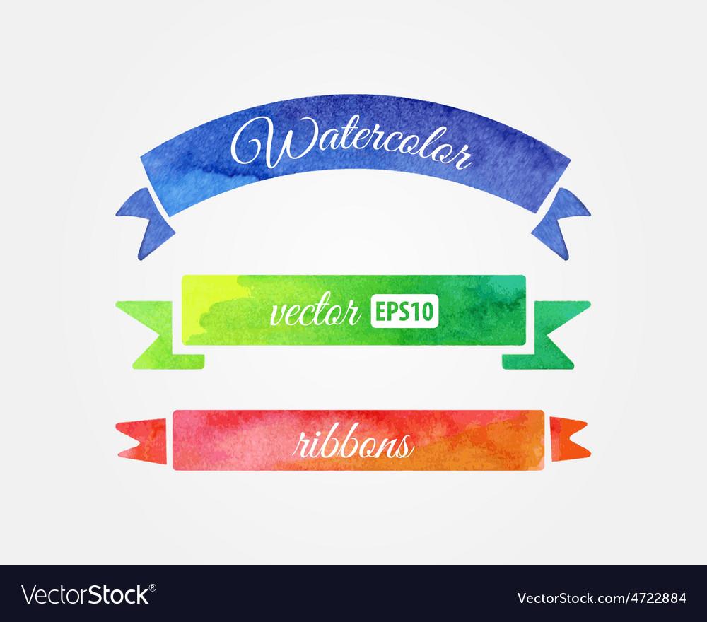 Watercolor ribbons vector   Price: 1 Credit (USD $1)