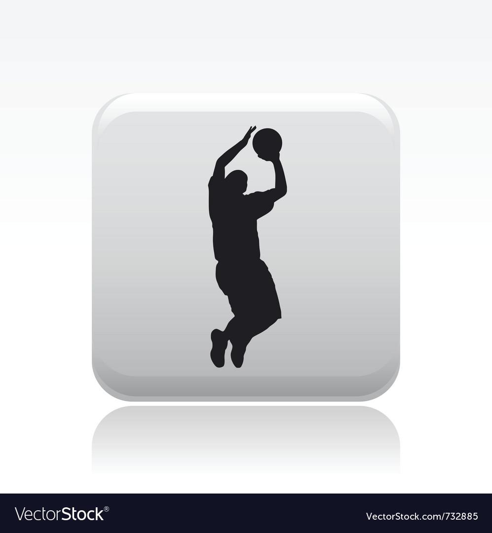 Basketball player icon vector